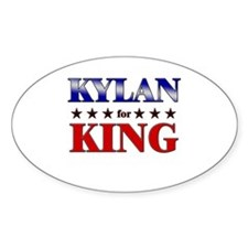 KYLAN for king Oval Decal