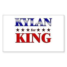 KYLAN for king Rectangle Decal