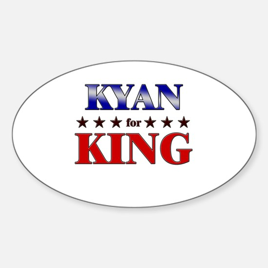 KYAN for king Oval Decal