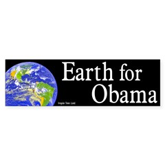 Earth for Obama bumper sticker