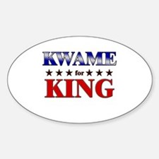 KWAME for king Oval Decal
