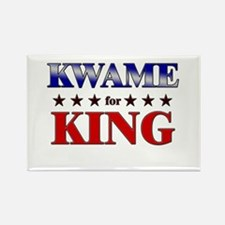 KWAME for king Rectangle Magnet