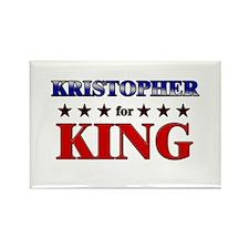 KRISTOPHER for king Rectangle Magnet