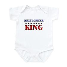 KRISTOPHER for king Infant Bodysuit