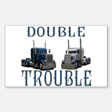 Double Trouble Rectangle Decal