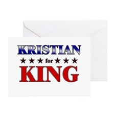 KRISTIAN for king Greeting Cards (Pk of 20)