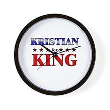 KRISTIAN for king Wall Clock