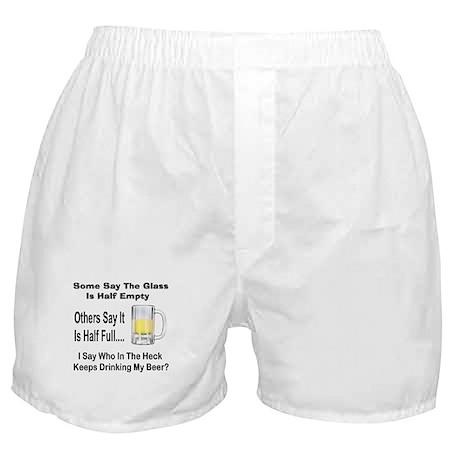 Half Full/Half Empty Boxer Shorts