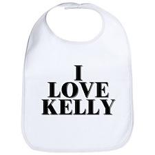 I Love Kelly Bib