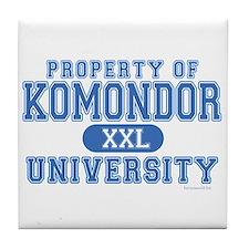 Komondor University Tile Coaster