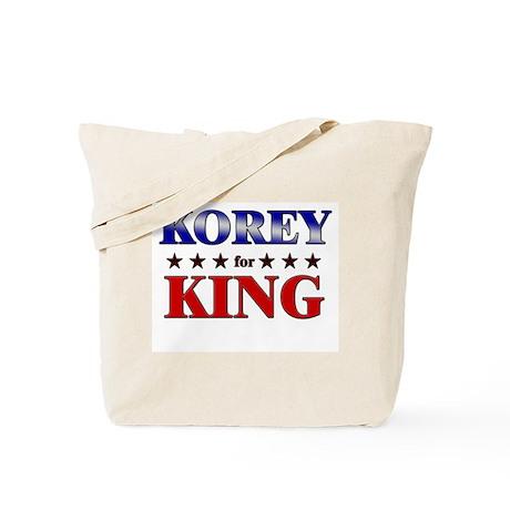 KOREY for king Tote Bag