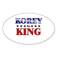 KOREY for king Oval Decal