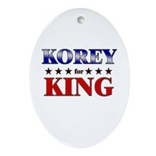 KOREY for king Oval Ornament