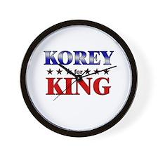 KOREY for king Wall Clock