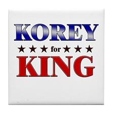 KOREY for king Tile Coaster