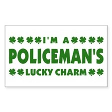 Policeman's Lucky Charm Rectangle Decal