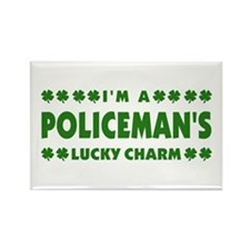 Policeman's Lucky Charm Rectangle Magnet