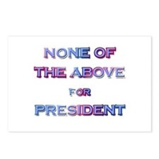None of The Above Postcards (Package of 8)