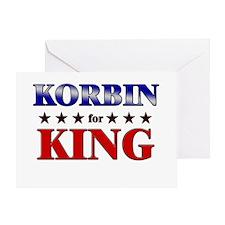 KORBIN for king Greeting Card