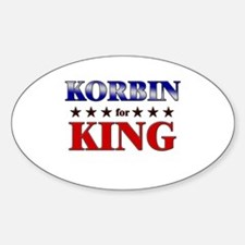 KORBIN for king Oval Decal