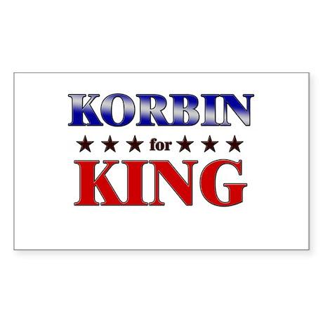 KORBIN for king Rectangle Sticker