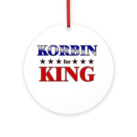 KORBIN for king Ornament (Round)