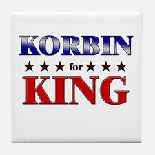 KORBIN for king Tile Coaster