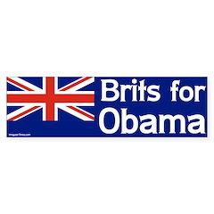 Brits for Obama Bumper Bumper Sticker