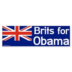 Brits for Obama Bumper Bumper Sticker