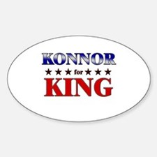 KONNOR for king Oval Decal