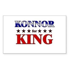 KONNOR for king Rectangle Decal
