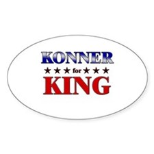 KONNER for king Oval Decal