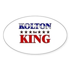 KOLTON for king Oval Decal
