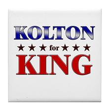 KOLTON for king Tile Coaster