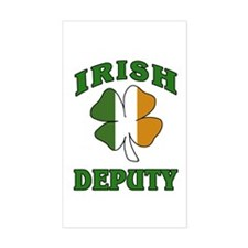 Irish Deputy Shamrock Rectangle Decal