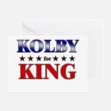 KOLBY for king Greeting Card