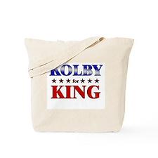 KOLBY for king Tote Bag