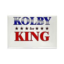 KOLBY for king Rectangle Magnet