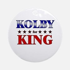KOLBY for king Ornament (Round)