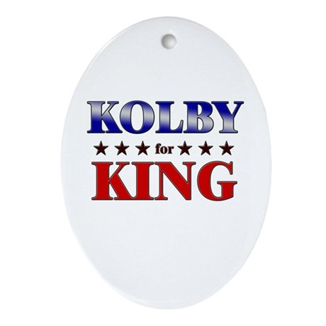 KOLBY for king Oval Ornament