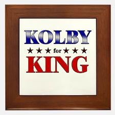 KOLBY for king Framed Tile