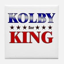 KOLBY for king Tile Coaster