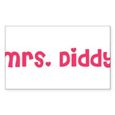 Mrs. Diddy Rectangle Decal