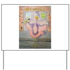 Pink Flamingo Party Here Celebrate Yard Sign
