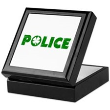 Green Police Keepsake Box