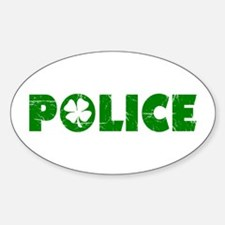Green Police Oval Decal