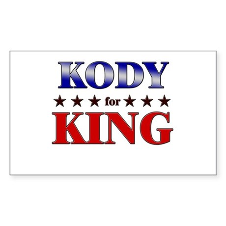 KODY for king Rectangle Sticker