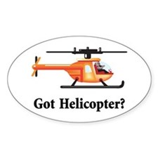 Got Helicopter Oval Decal