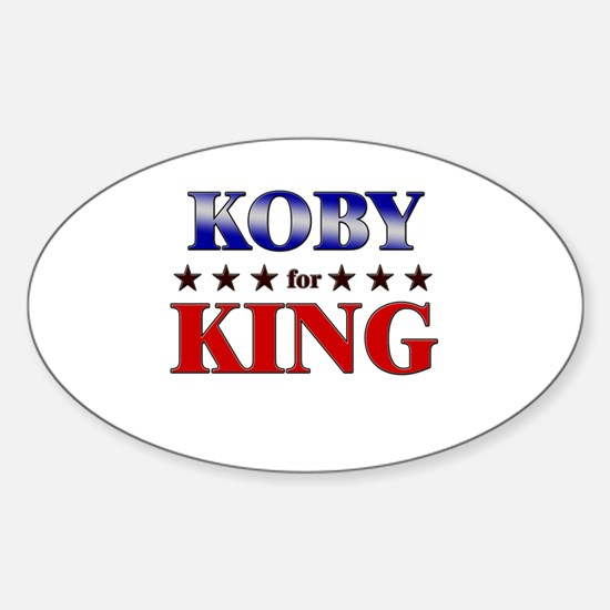 KOBY for king Oval Decal