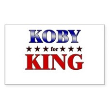 KOBY for king Rectangle Decal